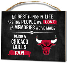 Chicago Bulls Small Plaque - Best Things [NEW] NBA Sign Wall Wood Hang Decor
