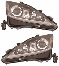 2011 LEXUS IS250 IS350 HID TYPE HEADLIGHTS HEAD LAMPS UNIT SET - PAIR