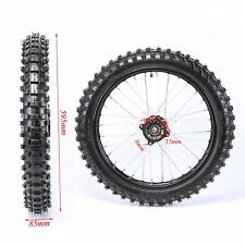 """15mm Axle 70/100- 17"""" Inch Front Wheel Rim Knobby Tyre PIT PRO Dirt Bike Scooter"""