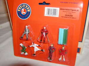 Lionel 1930200 Winter Action Figure Pack O 027 MIB New Painted 2019 Skate & Ski