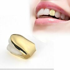 Gold Single Grill Tooth Clip Plated Mouth Teeth Cap Grills Bling Hip Hop UK