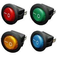 12V Interruttore A Bilanciere Bipolare A LED 16A ON / OFF SPST Per Auto Mot O2E5