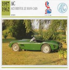 1957-1962 AC ACE Bristol Le Mans Sports Classic Car Photo/Info Maxi Card