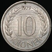 1979 | Denmark Margrethe II 10 Ore | Cupro-Nickel | Coins | KM Coins
