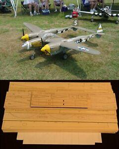 "114"" Ws P-38 LIGHTNING R/c Plane short kit/partial kit and plans, PLEASE READ !"