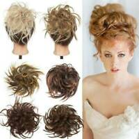 WEDDING LARGE Curly Messy Bun Hair Piece Scrunchie Thick Hair Updo Extension