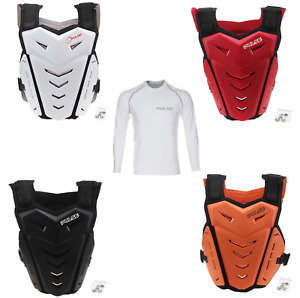 PULSE MOTOCROSS MX BMX MTB CHEST BACK PROTECTOR + LONG SLEEVED BASE LAYER