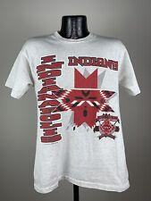 Men's Vintage Indianapolis Indians MILB White SS Graphic Logo Shirt 1993 Medium