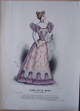 gravure ancienne mode couleur L'ART ET LA MODE XVII N° 42 - Marie DE SOLAR