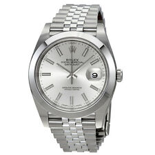 Rolex Datejust Silver Dial Automatic Mens Jubilee Watch 126300SSJ