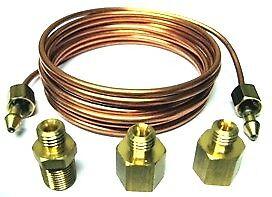 Tim Copper Oil Press, Pressure Gauge Pipeline KIT fits Tim 700005 Gauge (700011)