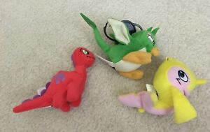 """Lot of 3 Neopets 4"""" Plush Toy Cute Chomby Flotsam 2005 McDonald's Happy Meal"""