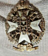 Russian imperial fluorescent Badge Alekseevsky 55mm 1796-1896 Maltese cross