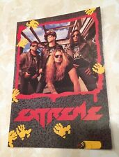 Extreme Rockn Roll Vintage Postcard Promo Color 1991 Rock Express Hair Band