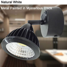 RV Car 12V Wall Rotated LED Reading Light with Switch Retro Black  Natural White