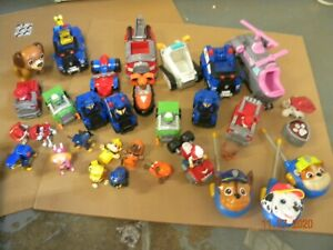 Paw Patrol 30 Pc Lot of Figures & Vehicles everything shown fun selection