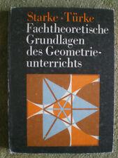 Geometrie - Fachtheoretische Grundlagen des Geometrieunterrichts - DDR Buch