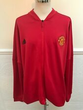 Adidas Manchester United 2018-2019 Red Tracksuit Top Jacket MUFC Size 3XL