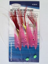 6 Packs Max Tempter Cod Pollack Deep Sea Rig Hokki Feathers 3 Hook Size 6/0 Lure