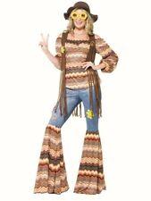 60s 70s Harmonyy Hippie fancy dress costume Womens Trousers Waistcoat Hippy