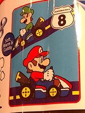 Super Mario Brothers Bros Mario Kart 8 Nintendo Fleece Blanket Throw Plush NEW