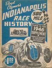 Floyd Clymer's Indianapolis 500 mile Race History 1946 Supplement