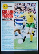 FOOTBALL PLAYER FOCUS ON GRAHAM PADDON NORWICH CITY SHOOT