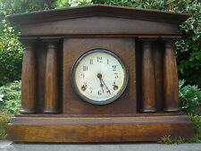 Very Rare Early 20thC Canadian Oak Museum Quality Pequegnat Pantheon Clock