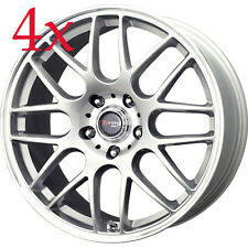 Drag Wheels DR-37 18x8.5 5x120 +40 cb72.56 Silver BMW Rims For E36 E46 M3 Z3 X3