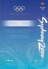 SYDNEY 2000 OLYMPIC GAMES OFFICIAL PARTICIPATION DIPLOMA (TWO DIFFERENT TYPES)