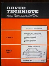 RTA revue technique automobile 281 SIMCA 1100 FIAT 500