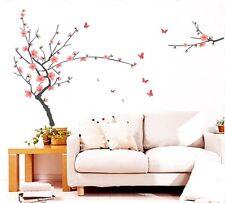 Plum Blossom FARFALLA Albero Grande Adesivo Parete Arte Murale Carta da parati bambini