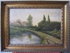 hst olio su tela paesaggio firmato Emb pittura quadro