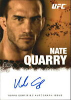 2010 Topps UFC Autographs #FANQ Nate Quarry Auto - NM-MT
