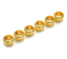 (6) Gold Metric Vintage Style Press-In Guitar Tuner Bushings TK-MPB-G