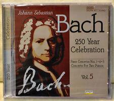 Bach Piano Concertos Nos 1 4 5 Concerto for Two Pianos CD NEW 250 Yr Celebration