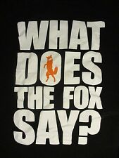 M black WHAT DOES THE FOX SAY? T-shirt by WE LOVE FINE
