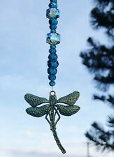 Dragonfly Crystal Bead Hanging Window Sun Catcher Home Decor Car Mirror Charm