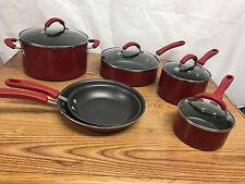 KITCHEN AID, Promotional Aluminum 10-Piece Cookware Set - RED