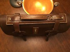 Vintage Large Thick Saddle Leather Lawyer / Attorney / Scholar Briefcase