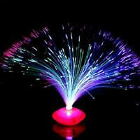 LED Multi Colour Changing Fibre Optic Fountain Night Light Lamp Home Nice O3P9