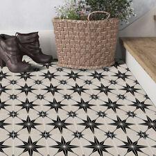 3D Black Tile Floor Ground Sticker Self-adhesive Bathroom Kitchen Wall 20x300cm