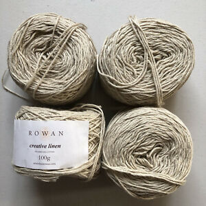 Creative Linen By Rowan Yarns  4 X 100g Balls  50% Linen 50% Cotton 8 Ply