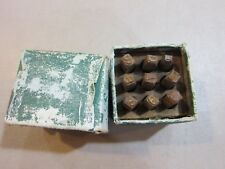 "Vintage Leather Wood Stamping Kit Punch Tool Numbers 1/4""- FREE SHIPPING"