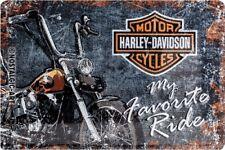 Blechschild 20 X 30 Harley Davidson Favourite Ride Werbeschild Art. 22174