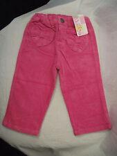 Bnwt Baby Girls Sz 00 Designer Bqt Brand Pretty Pink Super Soft Cord Jeans