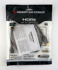 MONSTER HDMI 4FT CABLE High Speed With Ethernet Digital SEALED 2013