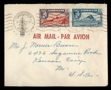 Dr Who 1952 Gibraltar Airmail To Usa f26171
