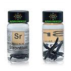 Strontium metal element 38 Sr 1 gram 99,8 sample in labeled glass vial