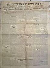 IL GIORNALE D'ITALIA  - 1908 - I COLLEGI SI PREPARANO ALLE PROSSIME ELEZIONI 604